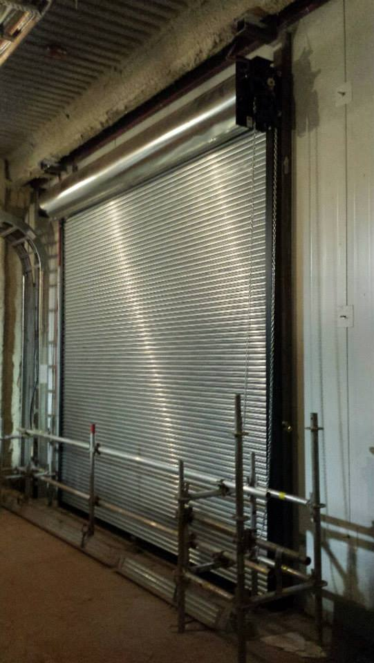 Rolling steel fire door new installation