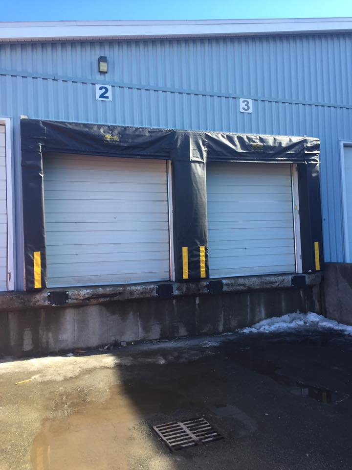New installation of 2 door shelters