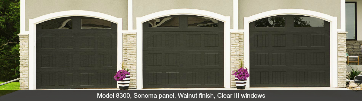 8300-8500-Steel-Garage-Door-Sonoma-Walnut-Clear-III
